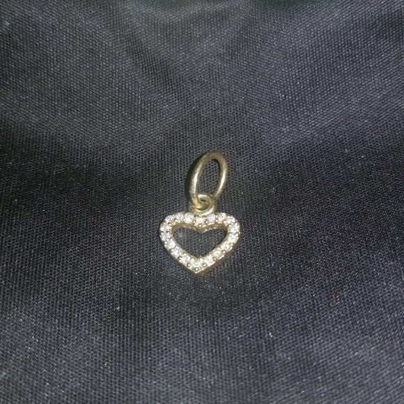 5535e7dd40b50 Pandora 14K Gold Diamond Heart
